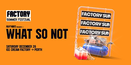 PALM NIGHTS Boxing Day ft. What So Not [Perth] | Factory Summer Festival tickets