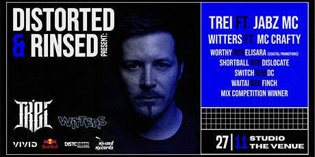 Distorted & Rinsed Presents: TREi + Jabz MC & Witters + MC Crafty & Support tickets