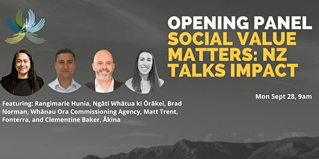 Opening Panel: Social Value Matters NZ Talks Impact tickets