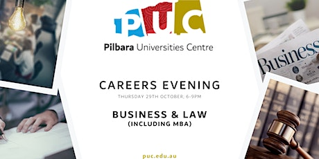 Career Information Evening | Business & Law (including MBA) tickets