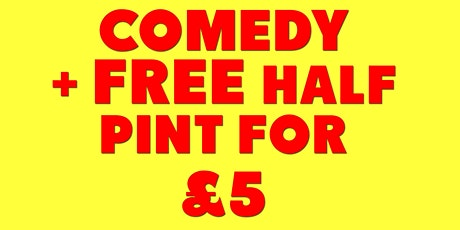 Comedy at the Shakespeare plus FREE half pint tickets