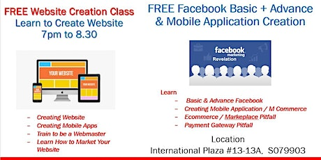 Learn to Create Website & Ecommerce site ($10perpax) - Please Bring Laptop tickets