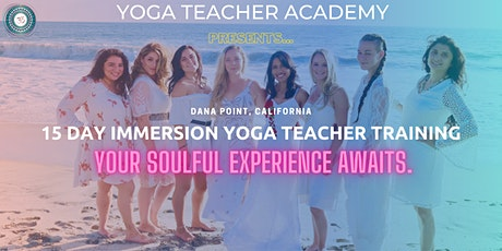 15 Day Immersion 200-Hour Yoga Teacher Training in Dana Point, California tickets