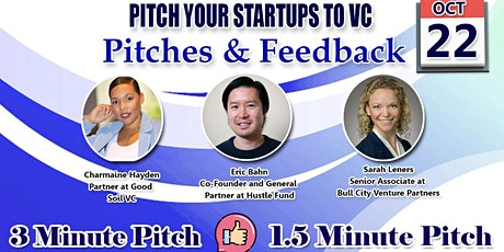 Pitch Your Startups to VC- Pitches & Feedback tickets