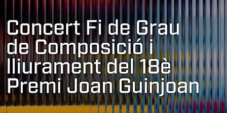 Concert final de Composició i lliurament 18è Premi Joan Guinjoan entradas