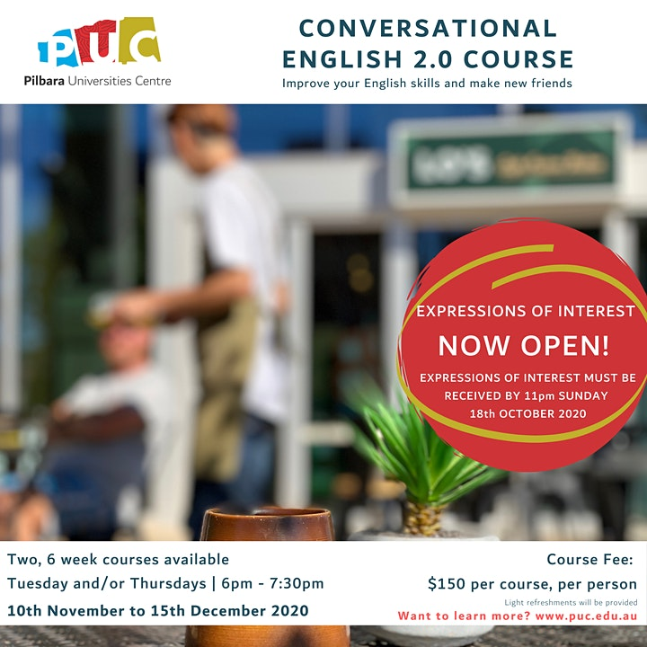 Conversational English 2.0 | Expression of Interest image