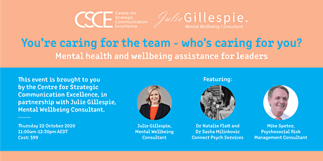 You're Caring For The Team – Who's Caring For You? tickets