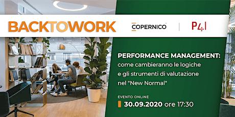 BACK TO WORK | Performance Management biglietti