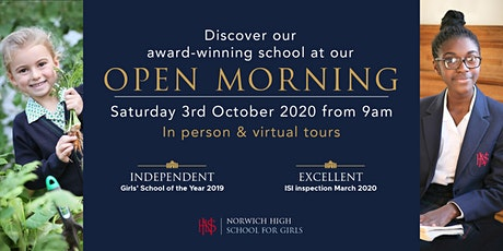 Norwich High School for Girls - Open Morning - Senior School - ages 11-15 tickets