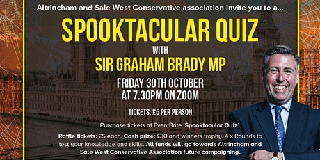 Spooktacular Quiz With & Message From Sir Graham Brady MP tickets