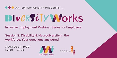 Disability & Neurodiversity in the workforce. Your questions answered. tickets
