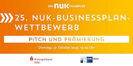 25. NUK-Businessplan-Wettbewerb! Pitch und Prämierung Tickets