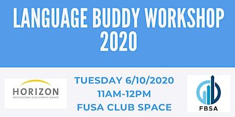 FBSA Language Buddy Workshop 2020 tickets