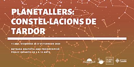 """Planetaller Infantil Planetari """"Constel·lacions de la Tardor"""" entradas"""
