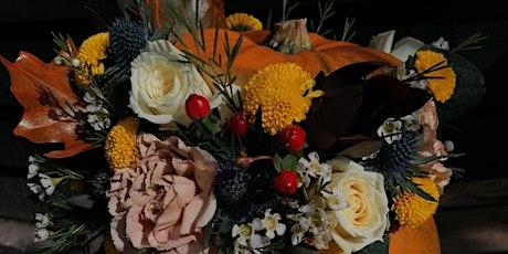 Pumpkin floral arrangement tickets