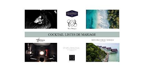 Cocktail Listes de mariage billets