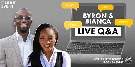 Byron & Bianca LIVE Q & A FREE ONLINE EVENT tickets