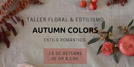 TALLER FLORAL COLORES DE OTOÑO ESTILO ROMÁNTICO entradas