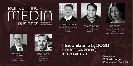 Reinventing Media Business forum 2020 tickets