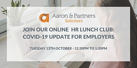 Online HR Lunch Club: COVID-19 Update for Employers tickets
