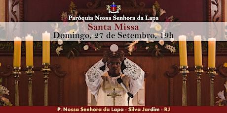 SANTA MISSA - 27/09 - Domingo - 19h ingressos