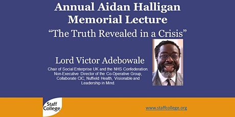 """Annual Aidan Halligan Memorial Lecture, """"The Truth Revealed in a Crisis"""" tickets"""