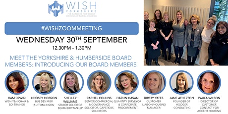 """Meet the Yorkshire & Humberside Board Members """"introducing our board member tickets"""