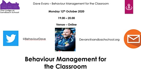 Behaviour Management for the Classroom tickets