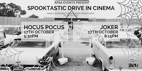 Spooktastic Drive In Cinema: HOCUS POCUS (PG) or JOKER (15) tickets