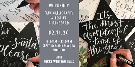 Festive Calligraphy Chalkboard Workshop tickets