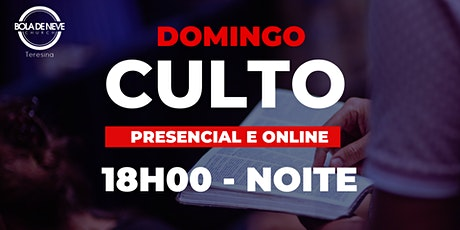 Culto Presencial - Domingo - NOITE - 27.09.2020 ingressos