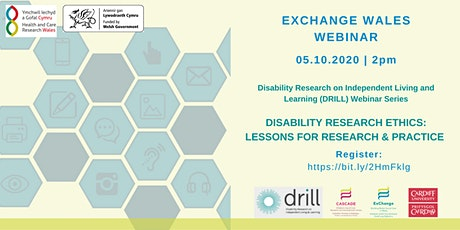 DRILL Series 1: Disability Research Ethics: Lessons for research & practice tickets