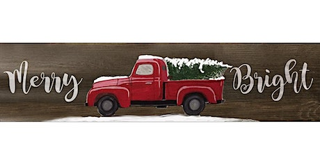 Christmas Tree / Vintage Red Truck Painting tickets