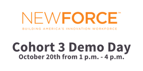NewForce Cohort 3 Virtual Demo Day tickets