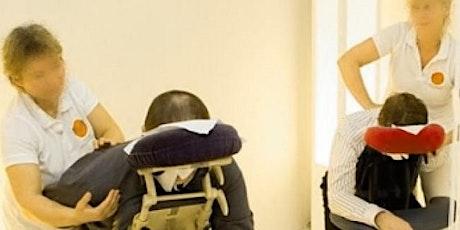 On-Site-Massage, Massage auf dem Massagestuhl, Fortbildung Massage Profis Tickets