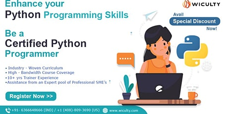 Python Certification Training | Instructor-Led | Live Training | Join Now tickets