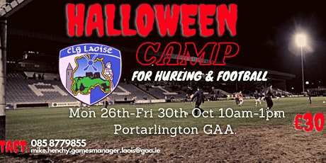 Laois GAA Halloween Camp for boys and girls 6 to 13 @ Portarlington GAA tickets