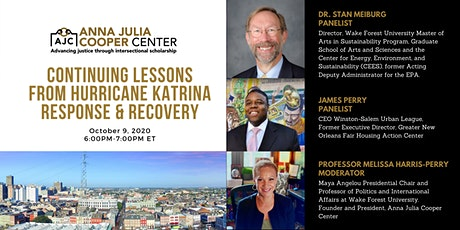 Continuing Lessons from Hurricane Katrina Response and Recovery tickets
