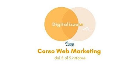Corsi DigitalizzaMI - Corso Web Marketing biglietti
