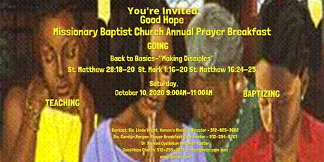 Good Hope Missionary Baptist Church 8th Annual Prayer Breakfast tickets