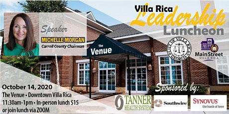 Villa Rica Leadership Luncheon Series | October 14, 2020 tickets