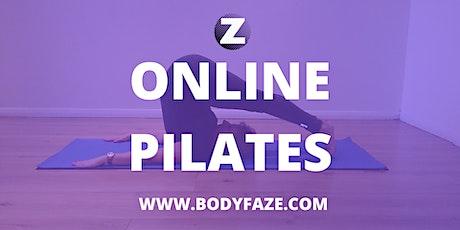 Bodyfaze Online PILATES MAT Class - Wk 4 Back to Basics tickets