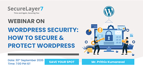 Upcoming Webinar Wordpress Security: How to Secure & Protect Wordpress tickets