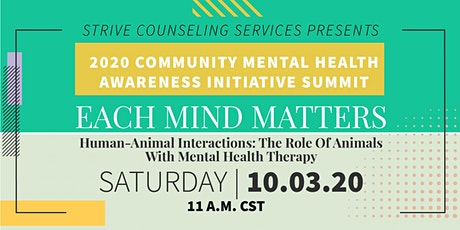 Human-Animal Interactions: The Role Of Animals With Mental Health Therapy tickets