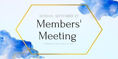 Members' Meeting tickets