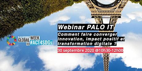 Faire converger innovation, impact positif et transformation digitale billets