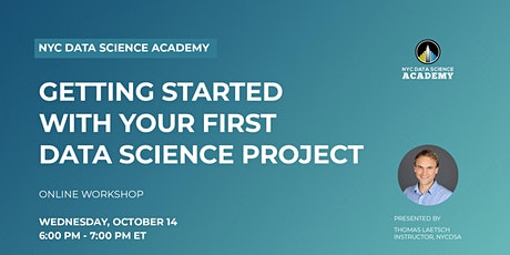 Getting Started with Your First Data Science Project biglietti