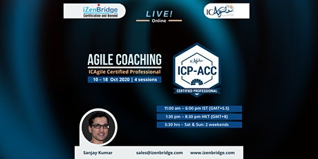 ICAgile Certified Professional–Agile Coaching Virtual (10 Oct – 18 Oct 20) tickets