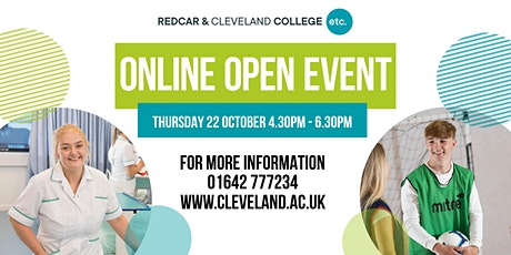 Redcar & Cleveland College Online Open Event tickets
