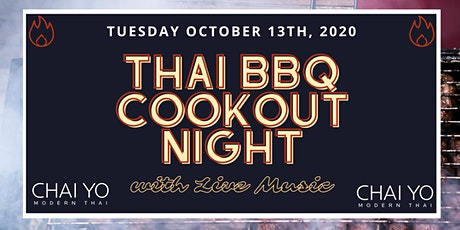 Thai BBQ Cookout & Live Music Event at Chai Yo Modern Thai tickets